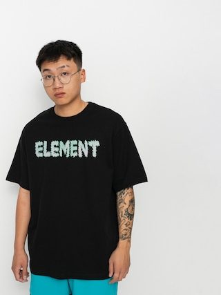 Tričko Element Lettering (flint black)