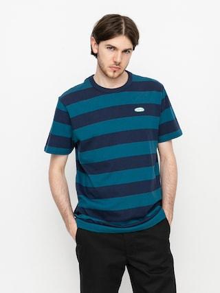 Tričko Vans Color Multiplier Stripe Crew (dress blues/blue coral)