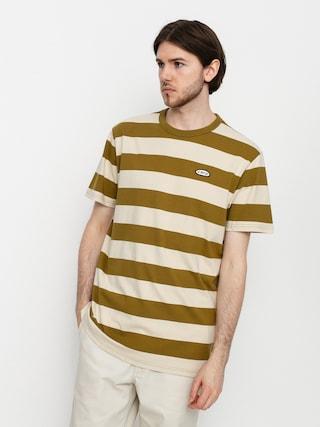 Tričko Vans Color Multiplier Stripe Crew (nutria/oatmeal)
