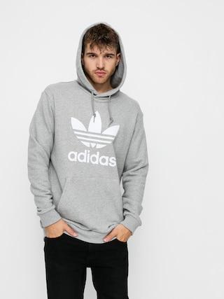Mikina s kapucňou adidas Originals Trefoil HD (mgreyh/white)