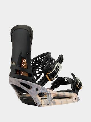 Snowboardové viazanie Burton Malavita Est (dark gray/print)