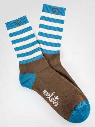 Ponožky Malita Wanted (brown/blue)