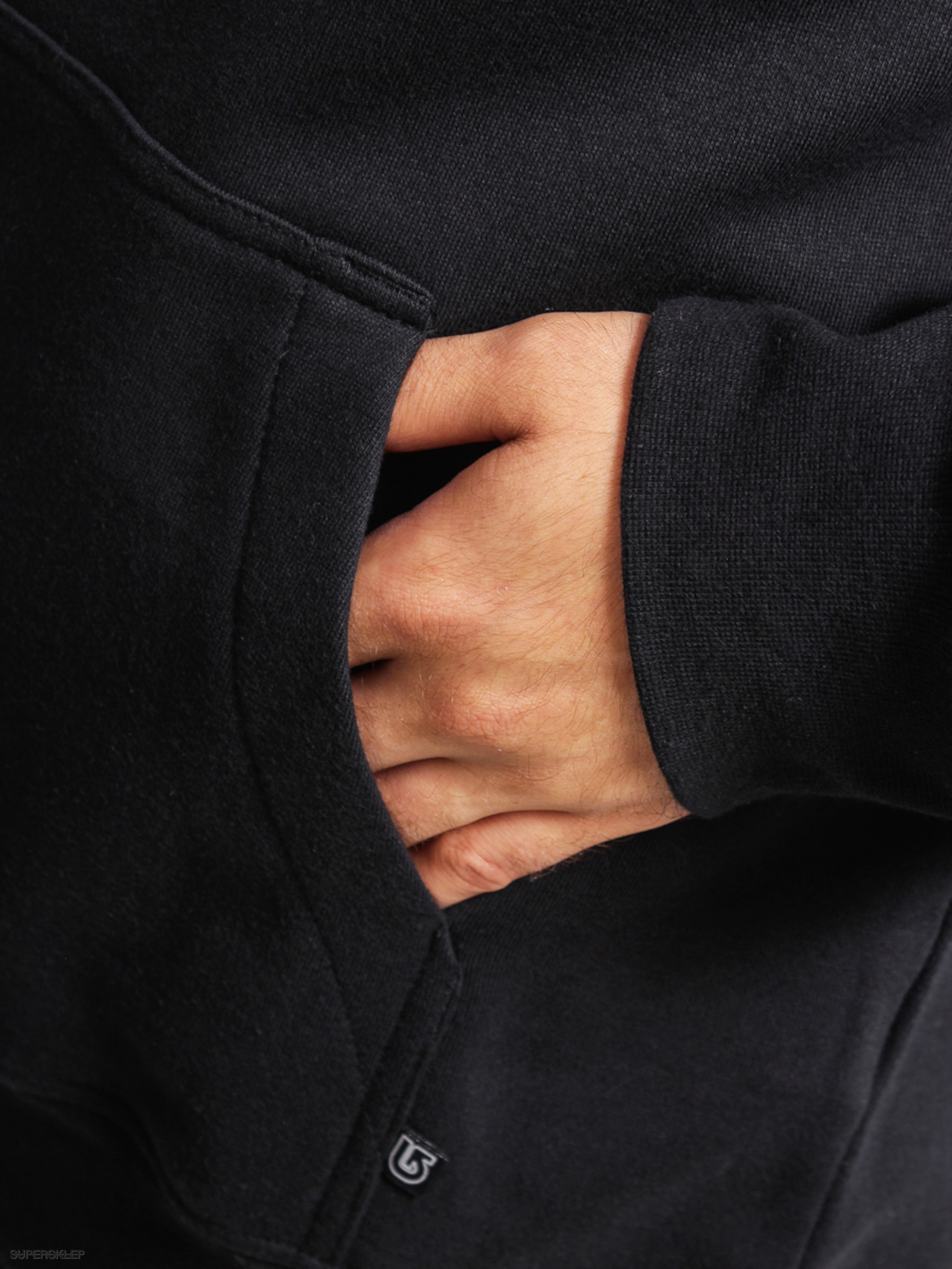 Mikina s kapucňou Burton Logo Vtfl HD (true black rasta) 1e3df43912b