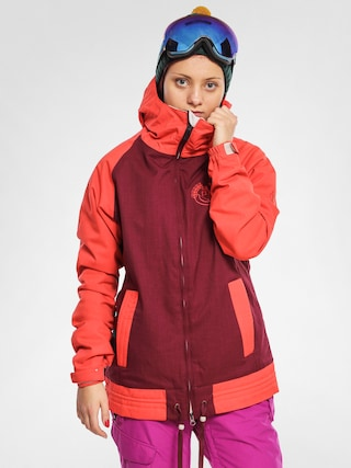Snowboardová bunda 686 Authentic Lynx Wmn (wine hdenim clrblk)