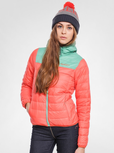 Snowboardová bunda Majesty Asgaard Down Wmn (orange/mint)