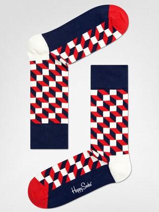 Ponožky Happy Socks Filled Optic (navy/red/white)