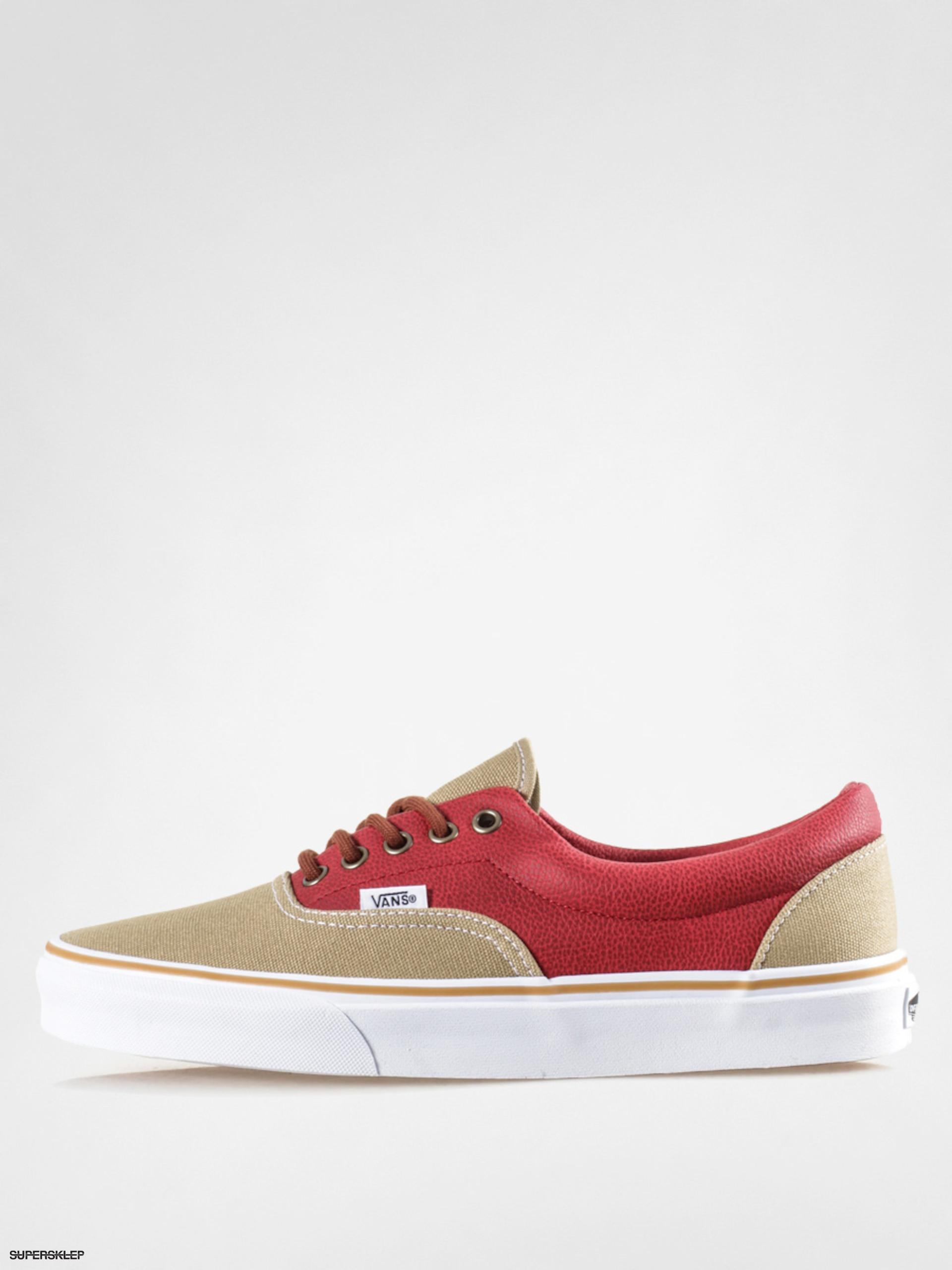 da591299fba0a2 Topánky Vans Era (leather quarter khaki red)