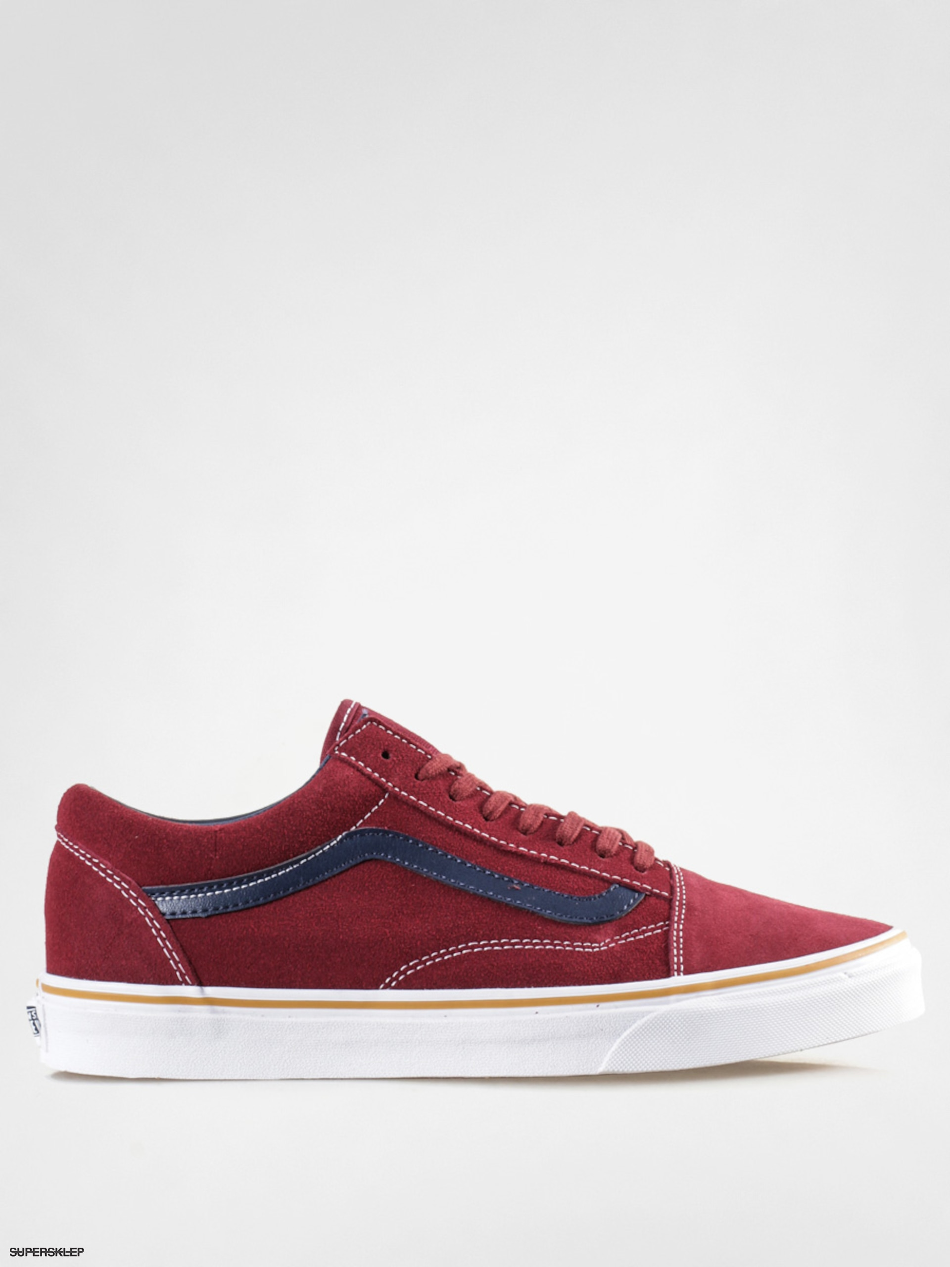Topánky Vans Old Skool (suede leather oxblood red) c70183841