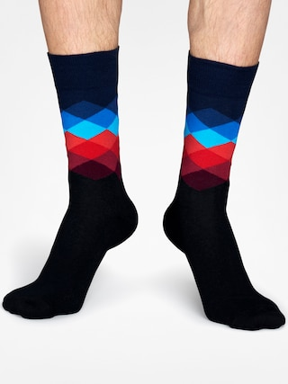 Ponožky Happy Socks Faded Diamond (black/navy/blue/red)