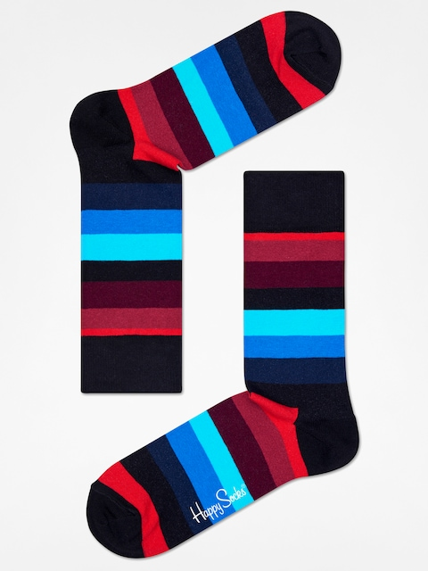 Ponožky Happy Socks Stripe (black/red/blue)