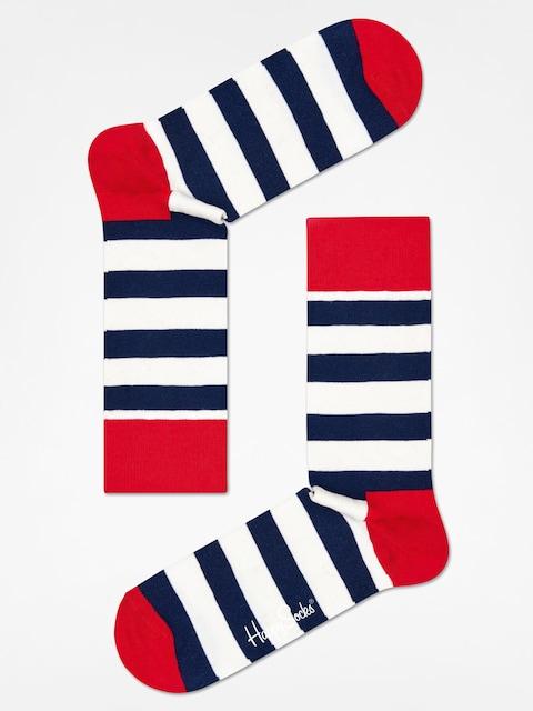 Happy Socks Codzienne Stripe (red/navy/crem)