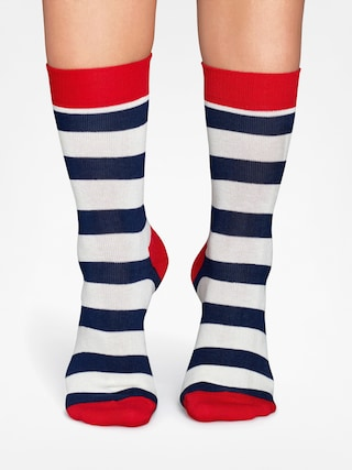 Happy Socks Stripe (red/navy/crem)
