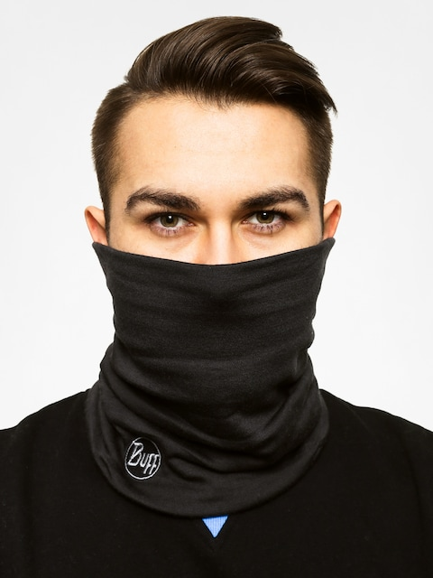 Bandana Buff Neckwarmer Wool (black)