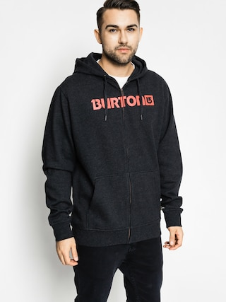 Mikina s kapucňou Burton Logo Horizontal ZHD (true blacke heather)