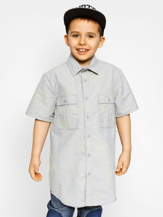 Detská košeľa Etnies Skoppe Woven SS (gry/lt gry)