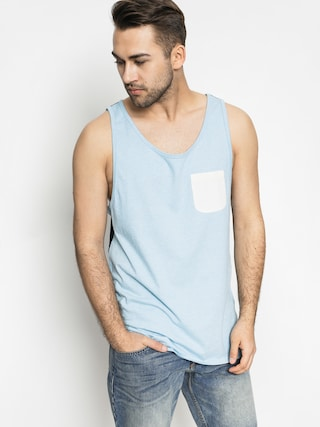 Tričko Quiksilver Baysick Tank (light blue/crem)