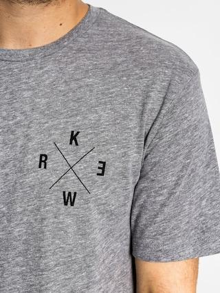 Tričko Kr3w Corordinates (grey heather)