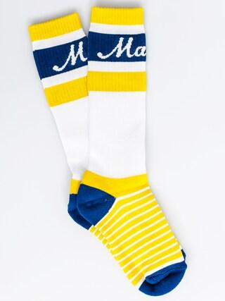 Ponožky Malita Logo Long (yellow stripes)