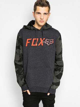 Mikina s kapucňou Fox Diskors HD (heather black)