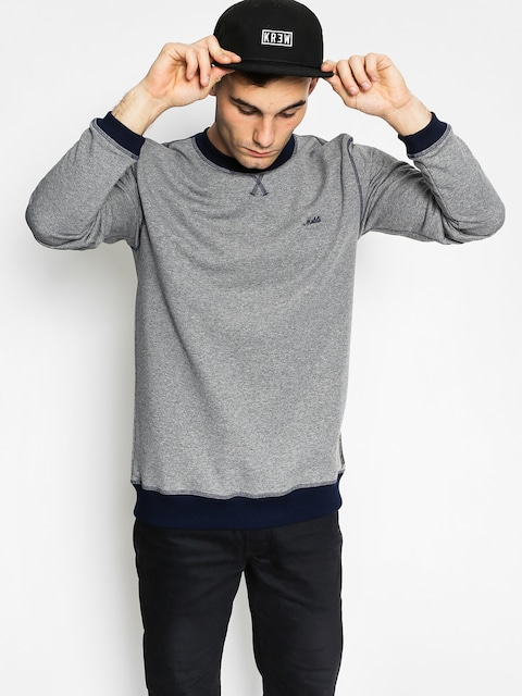 Mikina Malita Icon (heather grey/navy simple)