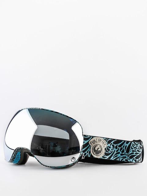 Okuliare na snowboard Dragon X2 (pow heads blue/mirror ion/yellow blue ion)