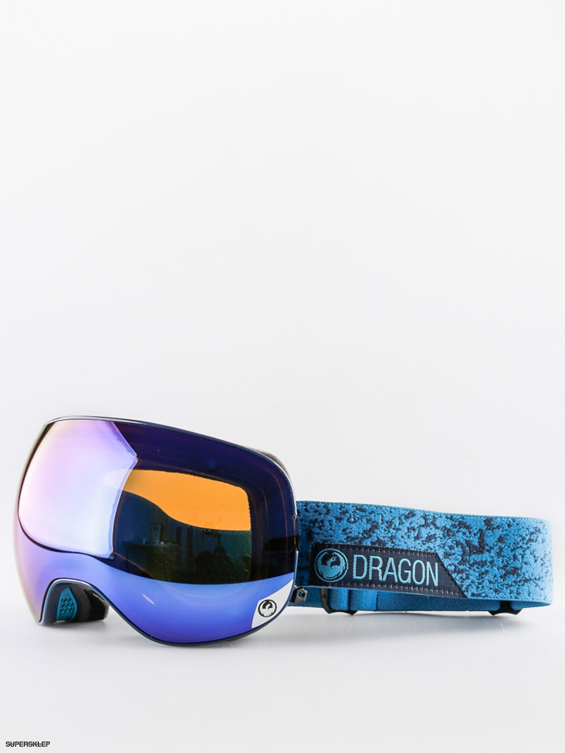 Okuliare na snowboard Dragon X2 (stone blue/blue steel yellow red ion)