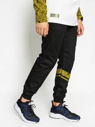 Nohavice Turbokolor Trainer Chino (black edelwe)