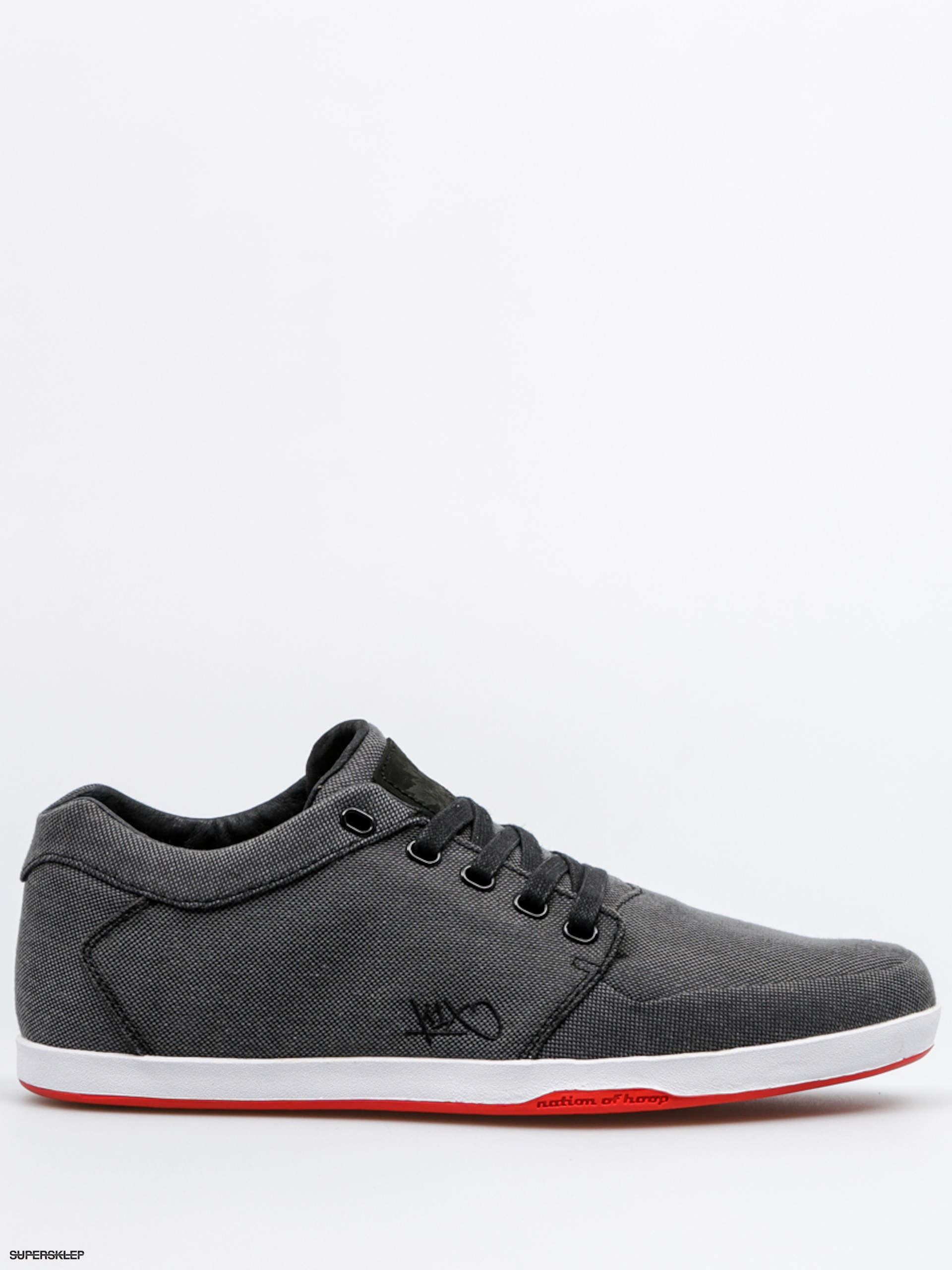 Topánky K1x Lp Low (black tweed/red)