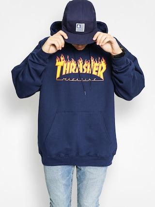 Mikina s kapucu0148ou Thrasher Flame HD (navy)