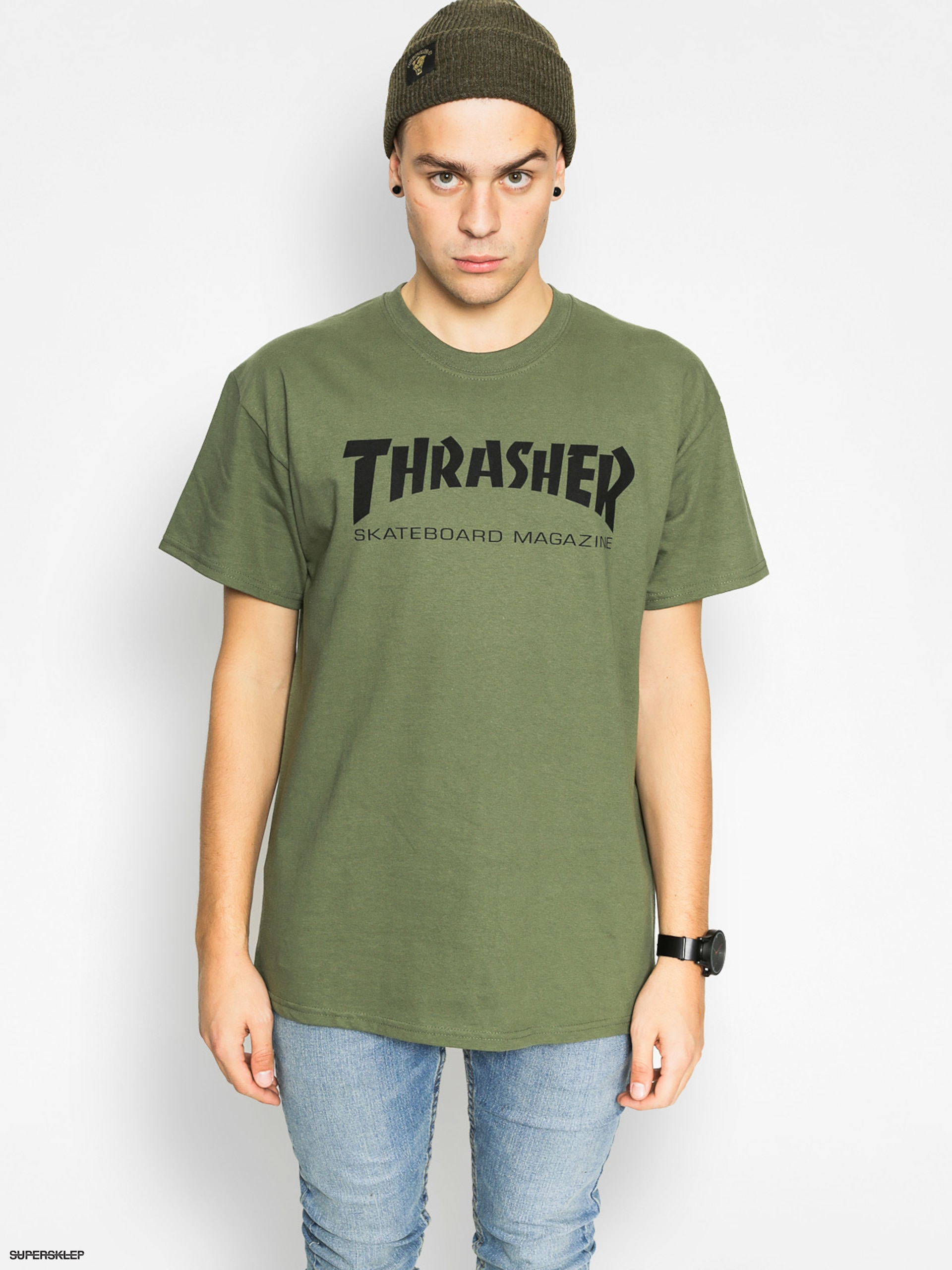 Tričko Thrasher Skate Mag (military green)