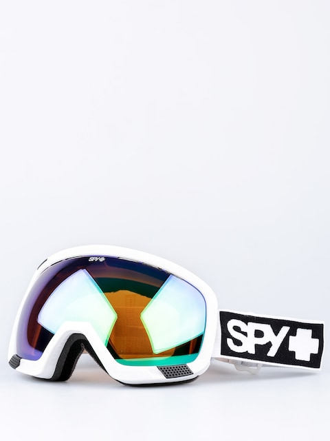 Okuliare na snowboard Spy Platoon (mt white/bronze/green spectra/yellow contact)