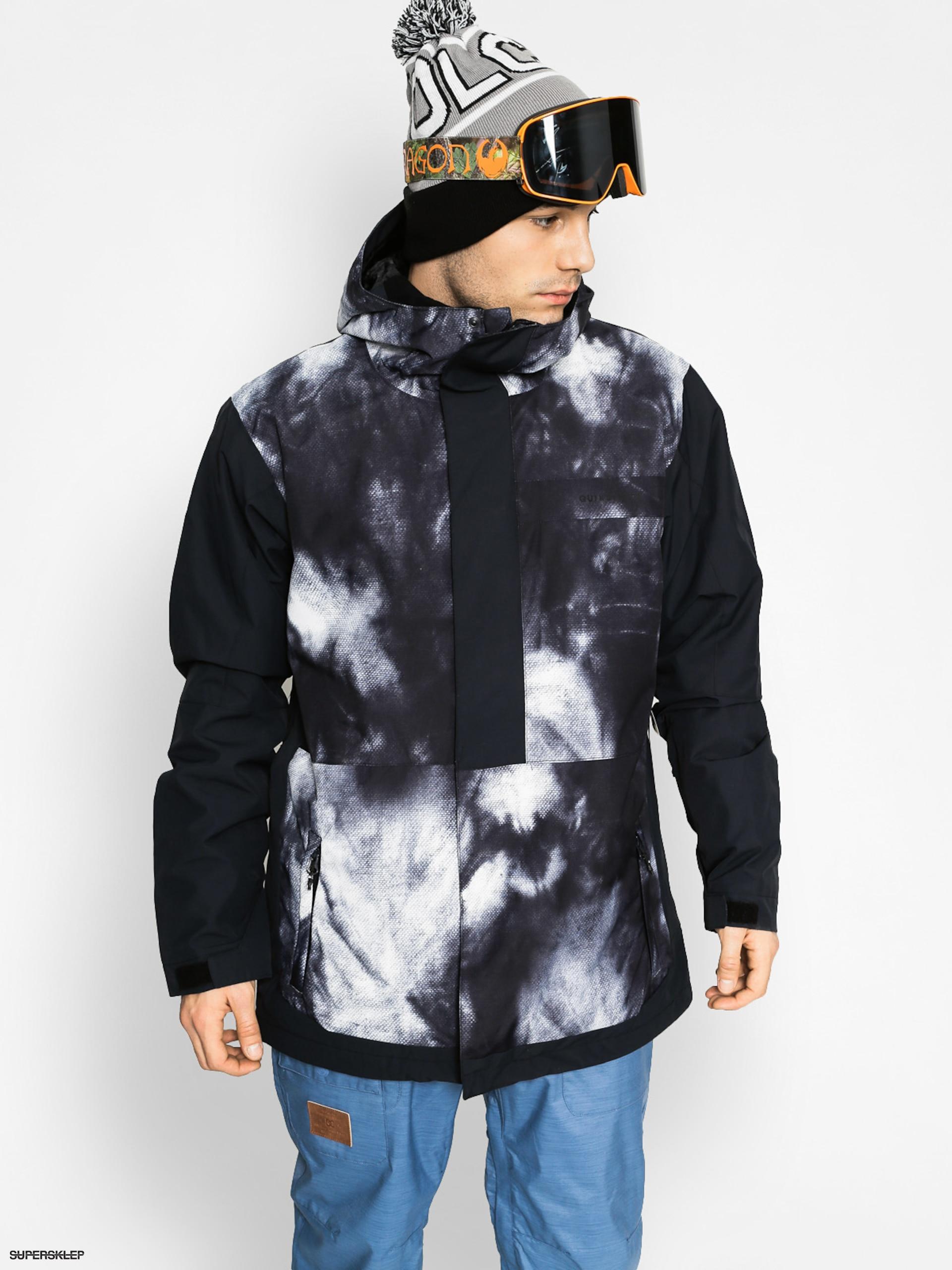 Snowboardová bunda Quiksilver Ambition (black white) 447b1583d68