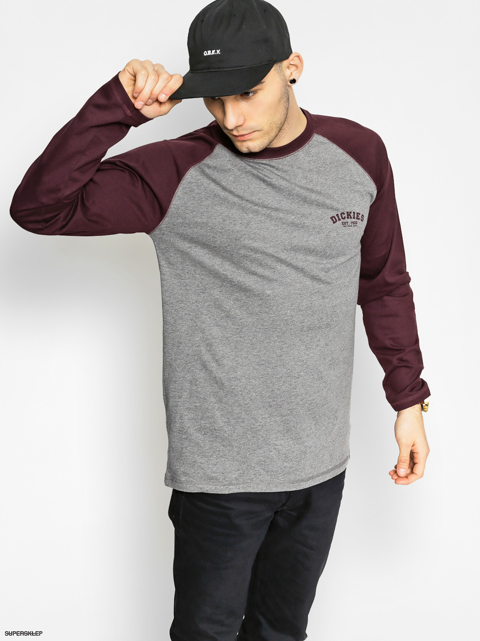 Triko Dickies Baseball (maroon/charcoal)