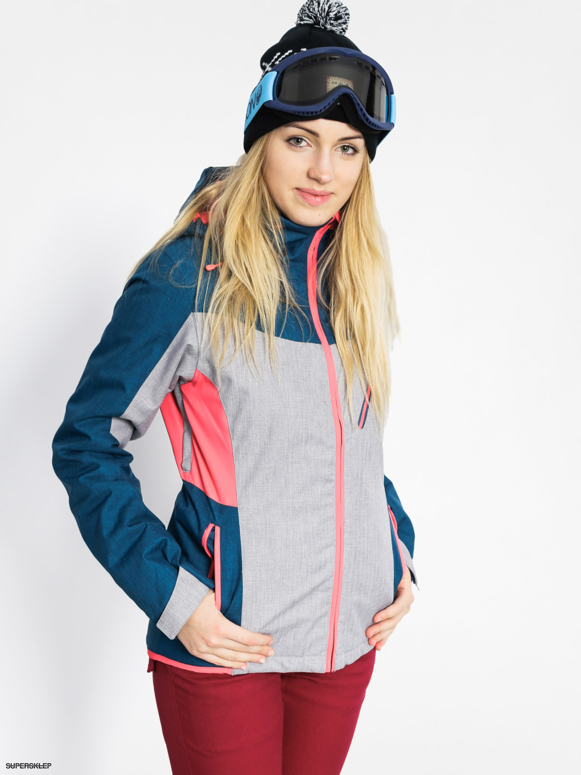 Snowboardová bunda Roxy Sassy Wmn (legion blue/light grey)
