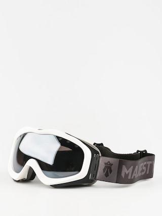 Okuliare na snowboard Majesty Patrol (glossy white/black onyx mirror/clear citrine)