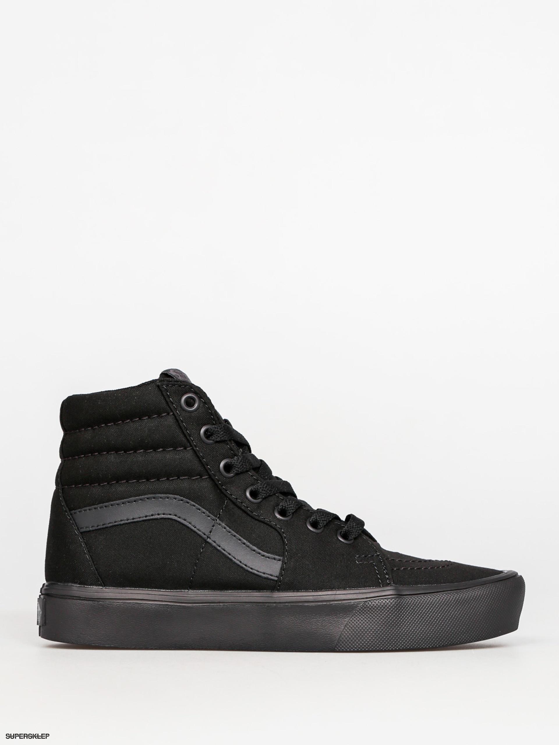 Topánky Vans Sk8 Hi Lite (canvas black black) c3c67fd32f6