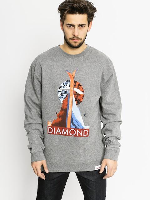 Mikina Diamond Supply Co. Diamond Peak (gunmetal heather)