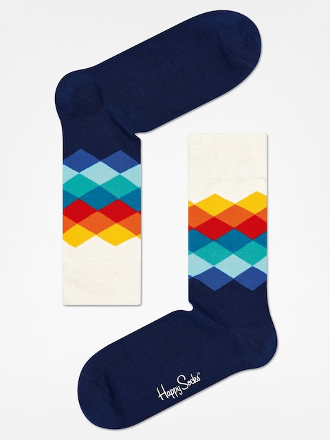Ponožky Happy Socks Faded Diamond (navy/white/multi)