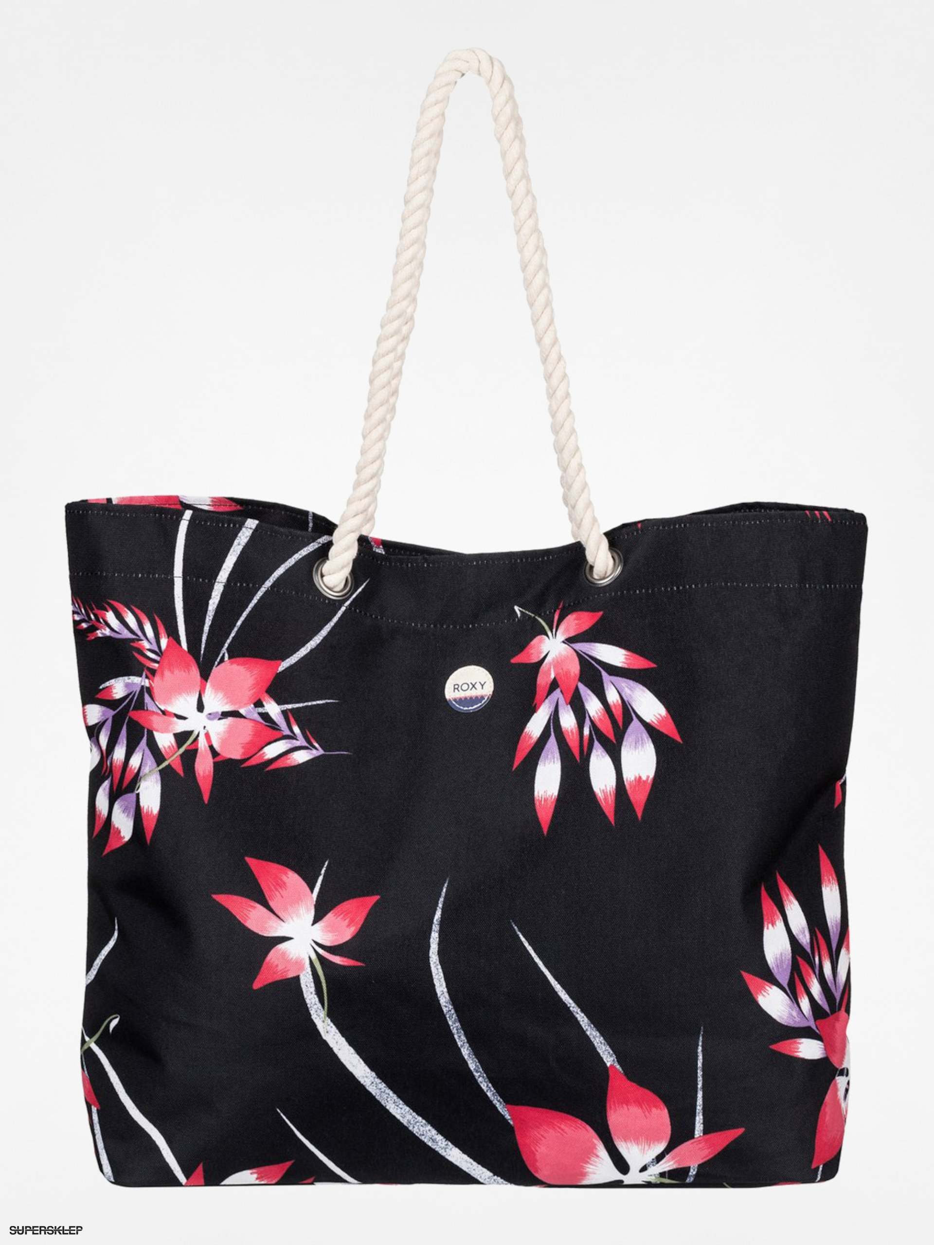 Kabelka Roxy Printed Tropical Wmn (black/flowers)