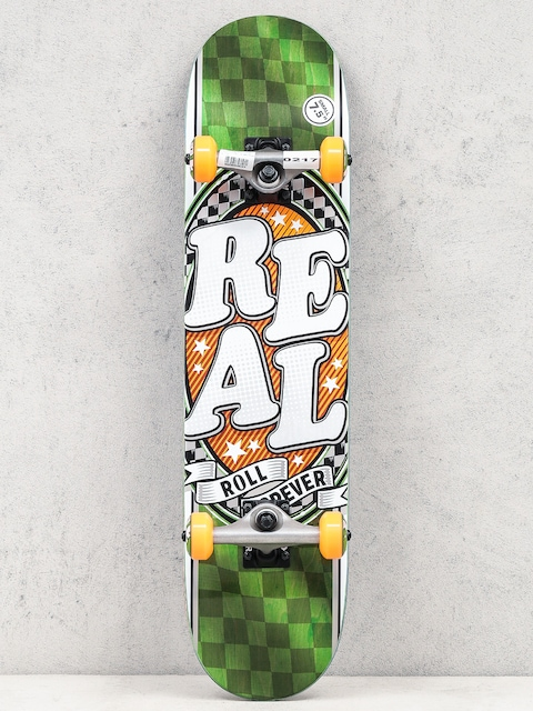 Skateboard Real Start Today (green/orange)
