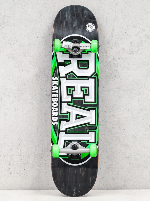 Skateboard Real Alumni (black/green)