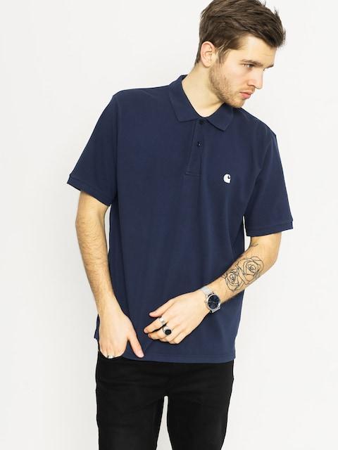 Polo tričko Carhartt Chase Pique (blue/white)