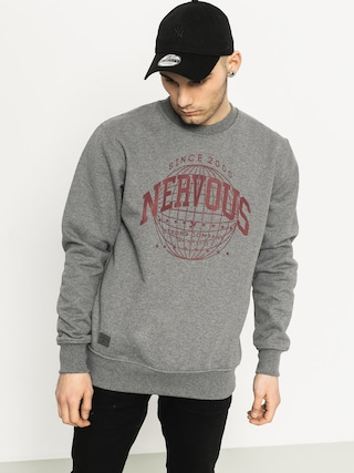 Mikina Nervous Global Crew (grey)
