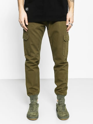 Nohavice Backyard Cartel Immortal Jogger (olive green)