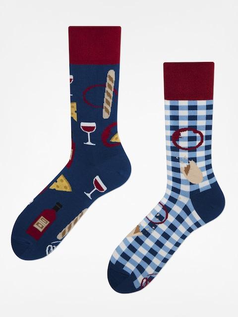 Ponožky Many Mornings Bonjour France (navy/maroon)