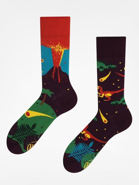 Ponožky Many Mornings The Dinosaurs (maroon/red)