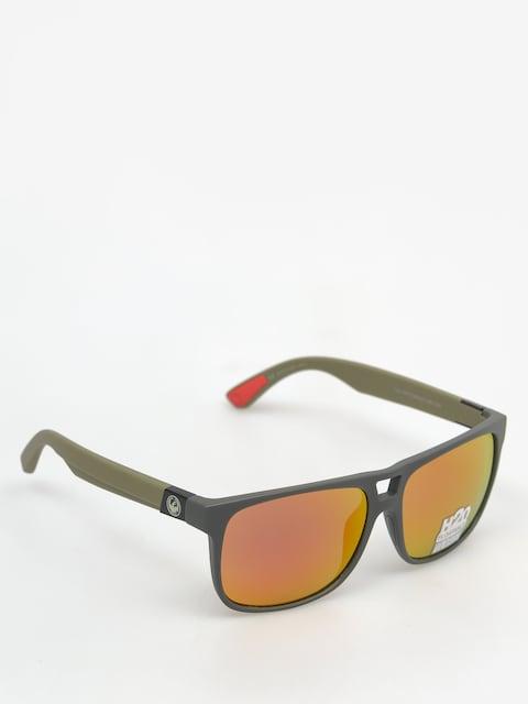Dragon Slnečné okuliare Roadblock H2O (matte magner grey/red)