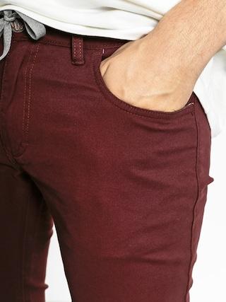 Kalhoty Malita Stripes Slim (maroon)