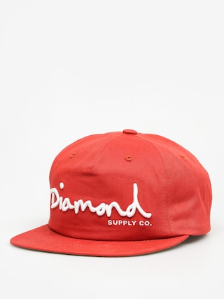 Diamond Supply Co. Šiltovka Og Script Snapback ZD (red)