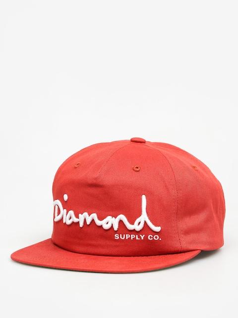 Diamond Supply Co. Šiltovka Og Script Snapback ZD (red)
